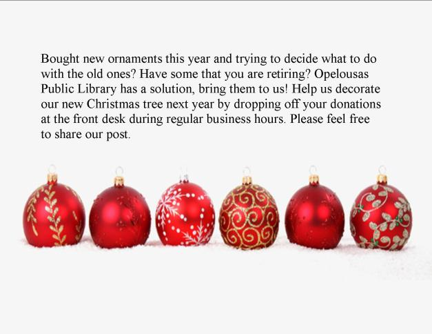 christmas ornament donation