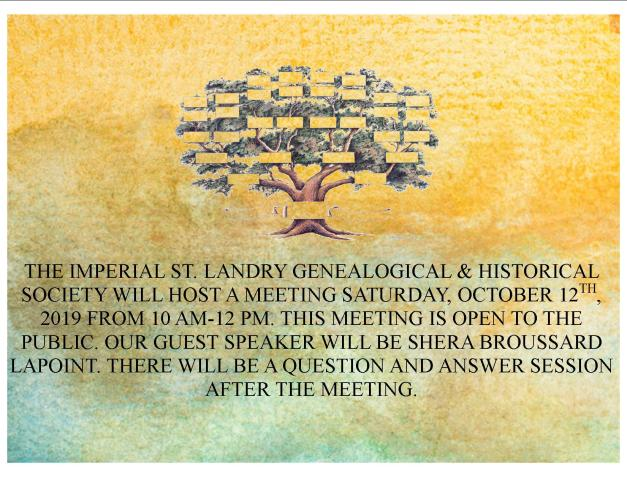 Genealogy meeting 10.12.19