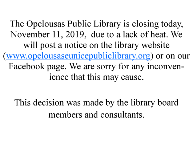 Library Closure 1